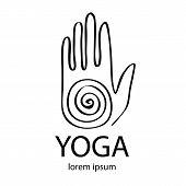 image of yoga  - Vector yoga illustration in zentangle style - JPG
