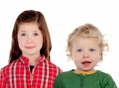 picture of brother sister  - Couple of children - JPG