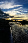 picture of pampa  - sunset inside a motorboat - JPG