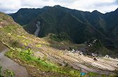 foto of ifugao  - beautiful mountains with rice plantations in the mountains of the Philippine Islands - JPG