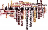 picture of deprivation  - Dehumanization word cloud concept - JPG