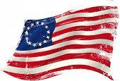 image of betsy ross  - Betsy Ross grunge flag - JPG