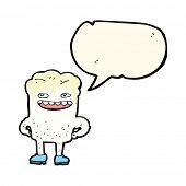 pic of bad teeth  - cartoon bad tooth with speech bubble - JPG