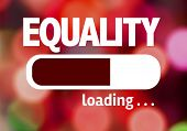 stock photo of equality  - Progress Bar Loading with the text - JPG