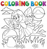 image of fairy-mushroom  - Coloring book with fairy 1  - JPG