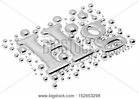 Small Mercury hg Metal Sign