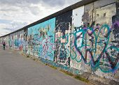 A photography of the wall in Berlin Germany