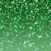 Abstract Green Glitter Background poster