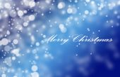 Blue Snowflake Background With Text Merry Christmas poster