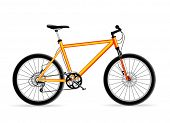 vector yellow mountain bicycle