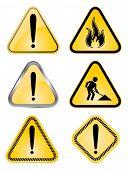 vector warning signs