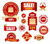 vector sale tags and labels