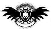 gothic emblem with scull