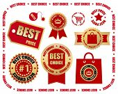 business labels set - best choice
