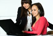 Girls Working In The Office