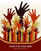 Постер, плакат: Счастливые руки дизайн вектор