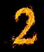 2 (two), fire figure