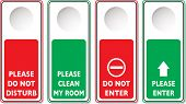 Do not disturb illustrations with four variations in green and red