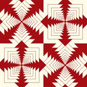 retro styled abstract background in red and cream