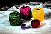 artistic colourful yarns