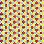 70Er Jahre inspirierte Harlekin Tapete Design in hellen Farben