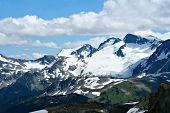 Rocky mountains at Whistler, Canada, home of the 2010 Winter Olympics. (View from Whistler mountain.)