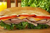 Ham and cheese sandwich.