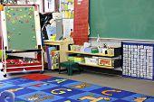 Jardim de infância, sala de aula pré-escolar.