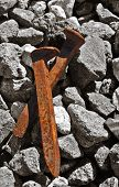 Rusty Railroad Spikes