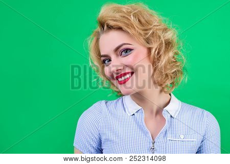 Pin Up Woman With Bright