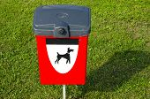 picture of excrement  - dogs excrements red box in the sea resort - JPG