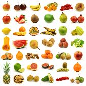 collection of fresh and colorful fruits and nuts