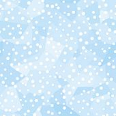 Seamless vector wallpaper. Snowfall. All colors easy for change