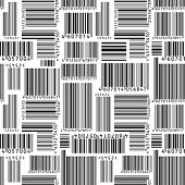 Barcodes. Seamless vector wallpaper