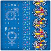 DNA and Caryotype. All elements are easily accessible to selection and change