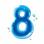 ABC series - Water Liquid Numbers - Number Eight