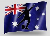 Country Flag Sport Icon Silhouette Australia Rugby Kicker