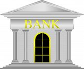 Metal bank icon