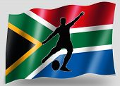 Country Flag Sport Icon Silhouette South Africa Rugby Kicker