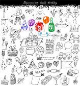 image of birthday party  - doodles  - JPG