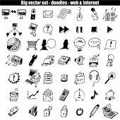 Doodle icon set - web & internet