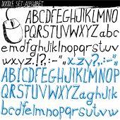 Doodle conjunto - alfabeto