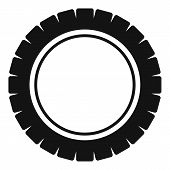 Single Tire Icon. Simple Illustration Of Single Tire  Icon For Web poster