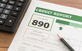 Credit Score Report Is Excellent Showing Good Debt History. poster