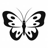 Butterfly In Wildlife Icon. Simple Illustration Of Butterfly In Wildlife  Icon For Web poster