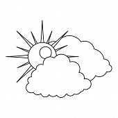 Cloudy Icon. Outline Illustration Of Cloudy  Icon For Web poster