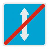 End Reverse Motion Icon. Flat Illustration Of End Reverse Motion  Icon For Web. poster