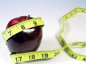 Apple With Yellow Tape Measure