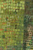 Green Mosaic With Mirror Function And As Wall Hanging - Detail poster