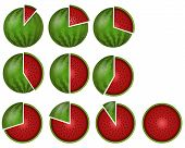 Watermelon circular diagrams